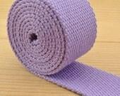 Cotton Webbing - 5 yards of 1.25 inch (32mm) cotton webbing - Lavender