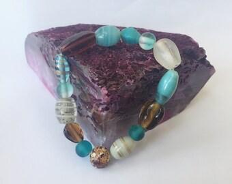 Earthy Colored Beaded Bracelet Spellbound Custom Blessing Bracelet By Dovemacob