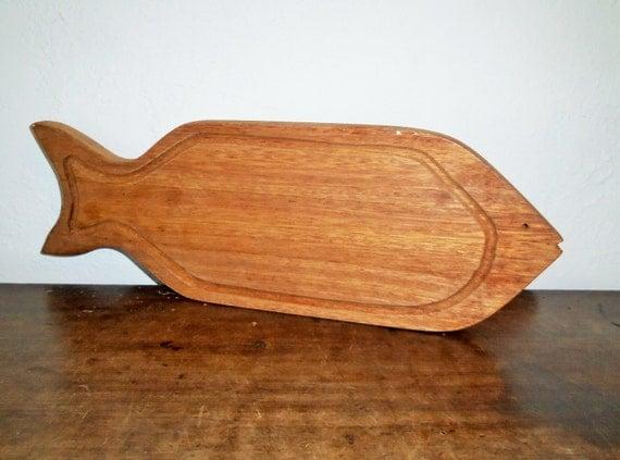Primitive wood fish cutting board for Fish cutting board
