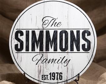Personalized Wood Established Sign, Family Established Sign, Last Name Wood Plaque, 4 Sizes