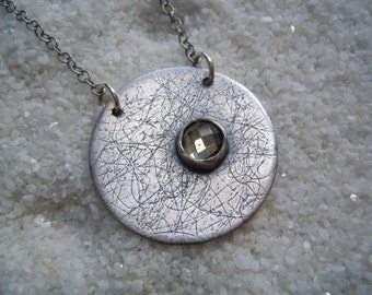 Silver and quartz necklace