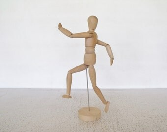 Artist Model Wood Articulated Maniquette Jointed Sculpture