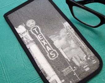 Eyeglass Case with Vintage Photo: Texas Theater, c. 1940