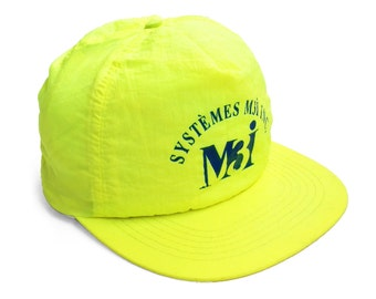 French 80s Neon Systémes M3i Inc. Snapback Cap