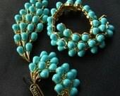 Vintage Trifari Set Original Hang Tag Bracelet Brooch Earrings Jewels by Trifari