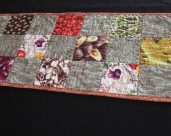 Quilted veggies table runner