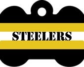 Steelers Pet Id Tag, NFL Pet Id Tag, Steelers Pet Tag, NFL Pet Tag, NFL Inspired Pet Tag, Custom Pet Tag