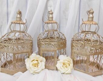 FIVE Wedding Centerpieces / Birdcage Centerpieces / Wedding Center Pieces / Wedding Decor / Wedding Decoration / Table Decor