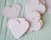 Light Pink Heart Wildflower Seed Paper Confetti, Wedding Favor