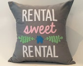 """18""""X18"""" Rental Sweet Rental Pillow Cover 