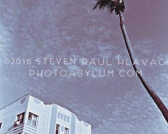 Vintage South Beach Miami 'Beacon Hotel' Tropical Art Deco Photograph