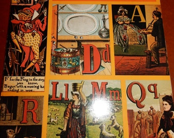 Vintage Noah's Ark ABC Victorian Alphabet Book by Ruari McLean