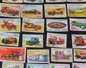 65 car trucks and train Stamps from around the world