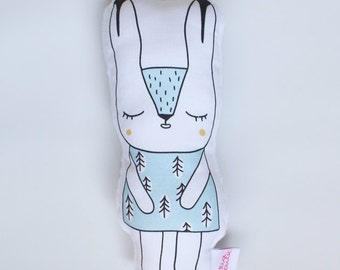 Arctic Hare Rattle Soft Toy