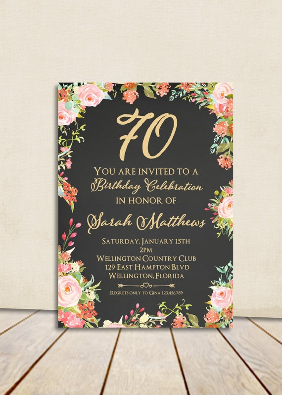 80th Birthday Invitation Surprise Birthday Adult Birthday
