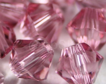 Swarovski Crystal Beads BICONE 5328 5301 LIGHT ROSE - Available in 3mm, 4mm, 5mm, 6mm and 8mm