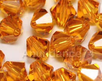 Swarovski Crystal Beads BICONE 5328 5301 crystal beads TOPAZ - Available in 3mm, 4mm, 5mm and 6mm