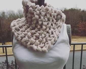 Knitted Cowl-neck Scarf