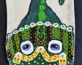 Hand Painted Lizard Canvas Puppet
