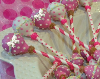 BABY RATTLES Cake Pops, Baby Shower Favors, Newborn Cake Pops, All Colors Available