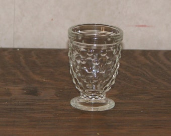 Vintage Clear Glass Hobnail Style Toothpick Holder