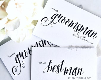 Groomsmen Wedding Thank You Cards // Best Man Gifts // Groomsman Gifts // Bridal Party Thank You Card // Wedding Day Card
