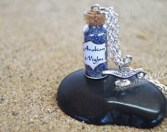 Arabian Nights Aladdin Necklace, Mystical Power, Genie of the Lamp Charm, Jasmine Cosplay, Aladdin Cosplay,Disney, by Life is the Bubbles