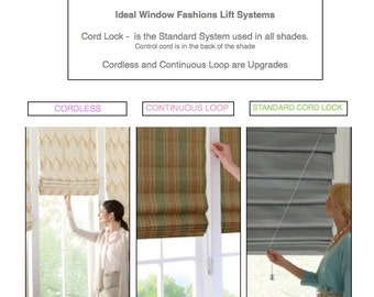 Roman-Shade-Cordless-Continuous Loop-window treatments Per Shade