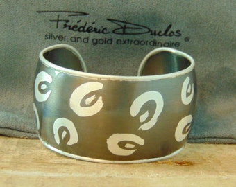 Sterling Silver Designer Frederic Duclos Cuff Bracelet