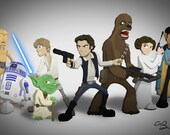 Star Wars Good Guys - Art Print