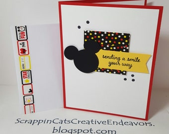 Disney style birthday cards set of 4