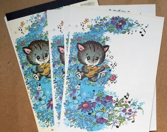 Adorable Vintage Kitten Fold-Over Mailers - Kitten Capers