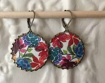 """Paper Jewelry Earrings """"Bejeweled"""" Paper for the First One Year Anniversary"""