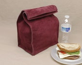 Large Leather Lunch Bag - Maroon - It's fun, it's leather, it's a great conversation starter