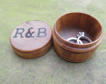 Personalized Wedding Ring Box | Engagement Rings Box | Custom Ring Box | Wooden Ring Box | Jewelry Ring Boxes