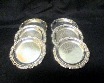 Vintage Silverplate Coasters ~ Made in Italy