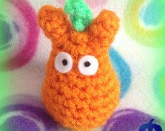 Oct. 18 ~ Pumpkin Totoro Mini Plushie! ~ 31 Nights of Halloween by MW