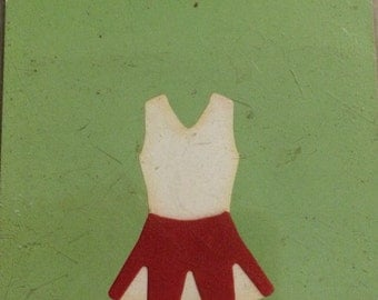 Lifestyle Crafts/Quickutz  CHEERLEADER UNIFORM