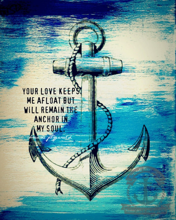 Anchor In My Soul | Nautical Decor Love Marriage Inspiration Quote | At Checkout, Choose Lustre Print or Gallery Wrapped Canvas