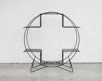 Mid Century Modern Wire Plant Stand / Shelf