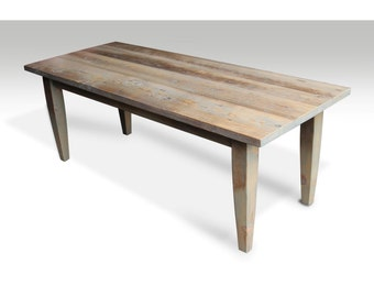Tapered leg Farm table with light driftwood stain