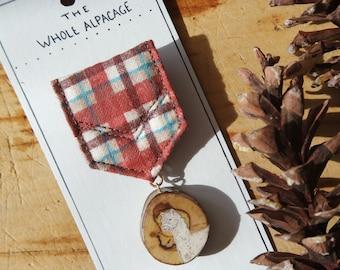 The Whole Alpacage- Wooden Illustrated Alpaca Merit Badge