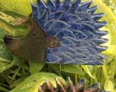 Garden Hedgehog - Ceramic Garden Bug - Garden Ornament - Garden Art Decoration - Ceramic Garden Art - SRA