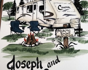 FATHERS DAY-Camper signs - travel trailer- Personalized- weatherproof