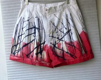 white shorts size 14 hand dyed