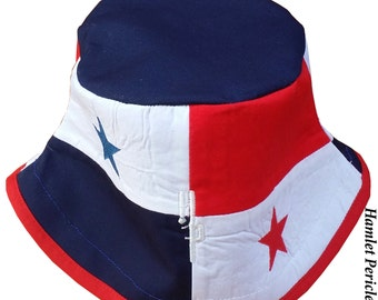 Panama Flag Blue-top Bucket Hat   Panama Hat   Country Hat   Panama Flag by Hamlet Pericles