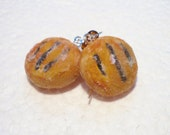 Eccles Cake Earrings. Polymer Clay.