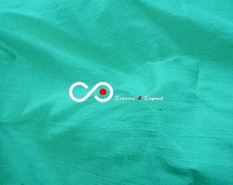 Silk Dupioni Fabric - Turquoise D142 - Section Cyan - 1 yard 100% Silk Dupion