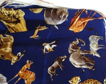 silk scarf wildlife inspired