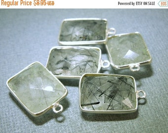 12% off Wholesale Rutilated Crystal Quartz Station Rectangle Pendant - 12mm x 16mm Sterling ...